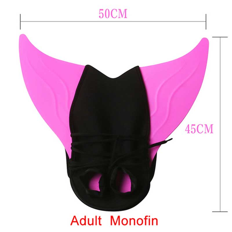 Kids Mermaid caudal Fin Swimming Diving Monofin Swimmable Tails Training Flipper