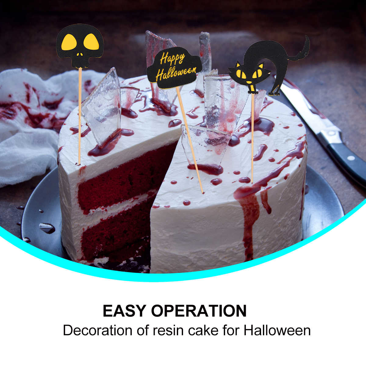 9 Stucke Halloween Kuchen Topper Lustige Kuchen Dekorieren Topper Dessert Cupcake Topper Kreative Dessert Obst Einfugen Partei Liefert Cake Deko Aliexpress
