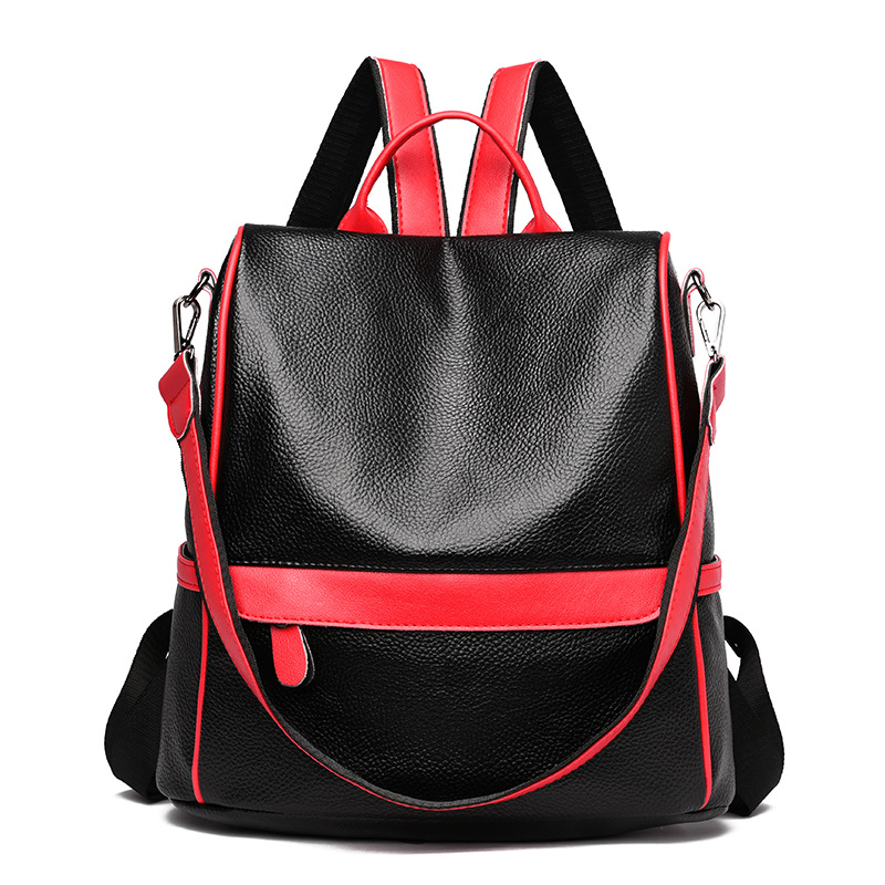 JUILE New Women Backpack Pu Leather High Quality Student Bag youth girl backpack fashion lady large capacity shoulder travel bag