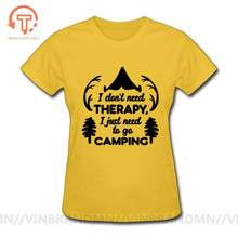 Travel Lovers Adventure Harajuku Camping T-shirt I just need to Go camping Women Slogan Graphic Tee Shirt Female sports tops tee(China)