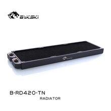 Bykski B RD420 TN, radiadores de una hilera de 420mm, 28mm de espesor, radiadores de enfriamiento de agua estándar, adecuados para ventiladores de 140*140mm