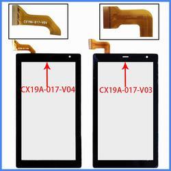 Nowy oryginalny dla 7 cal CX19A 017 V04 CX19A 017 V03 Tablet pojemnościowy ekran dotykowy panel wymiana czujnika w digitizerze w Ekrany LCD i panele do tabletów od Komputer i biuro na