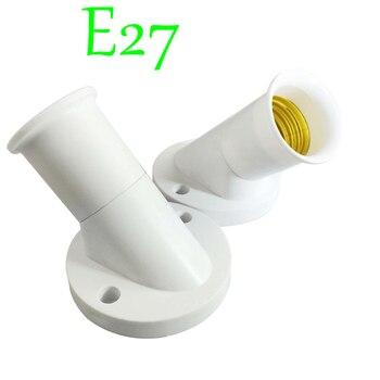 Casquillo E27 de 45 grados, Base de bombilla con tornillo, adaptador de...