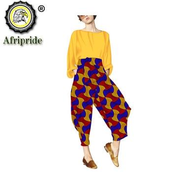 2020 African women pant Autumn  private custom dashiki bazin riche ankara print 100% pure cotton AFRIPRIDE S1826007