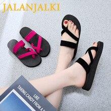 Women Slippers Cool-Shoes Flip-Flop Light-Weight Home Sandals Outdoor Black Flat Summer