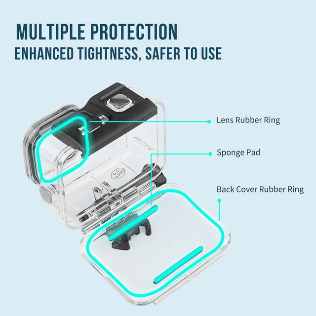 60M Waterproof Case for GoPro Hero 9 Black Protective Diving Underwater Housing Shell Cover for Go Pro 9 Camera Accessory 3
