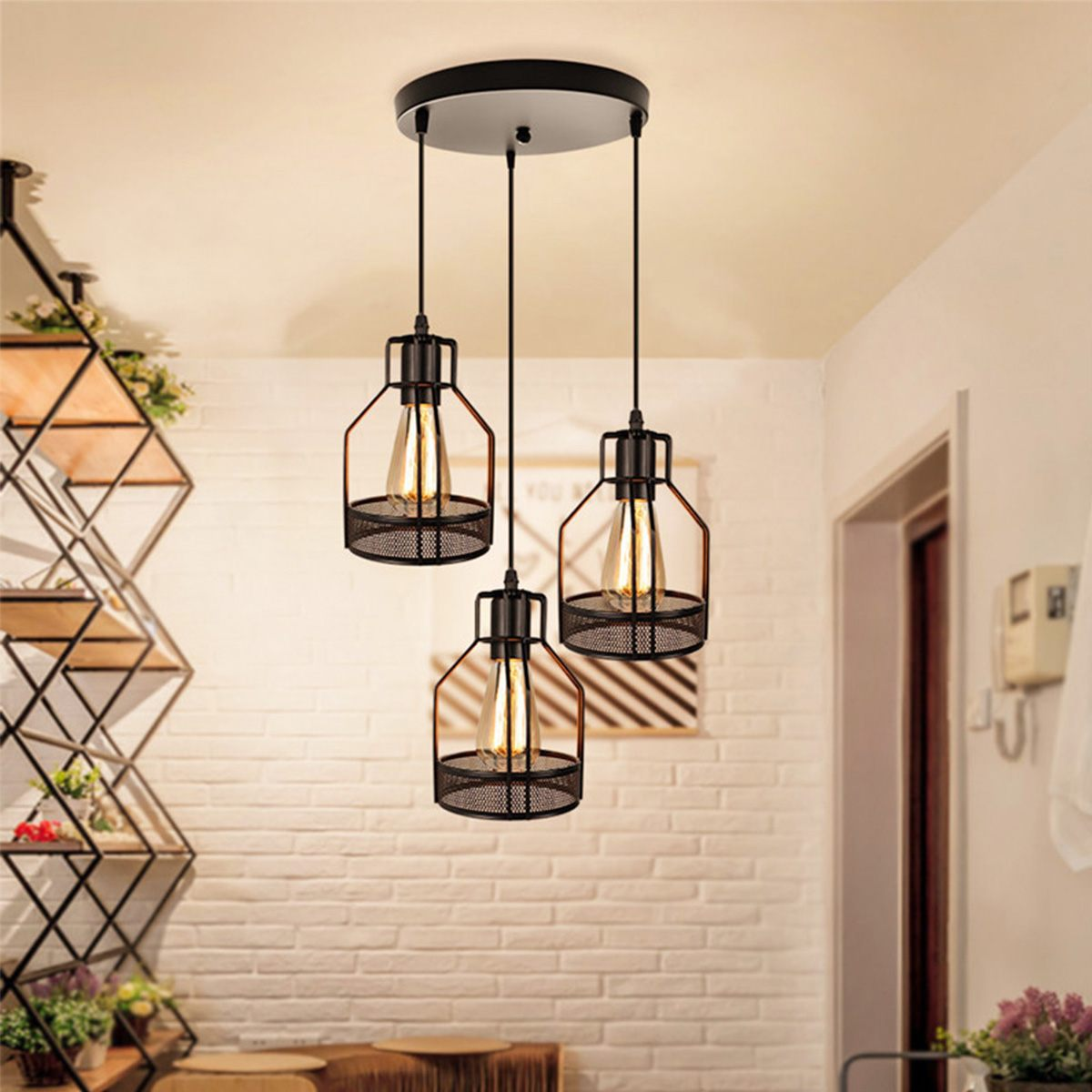 Vintage Industrial Pendant Light Iron Retro Loft Hanging Lamp For Living Room Kitchen Cafe Bar Home Light Fixtures
