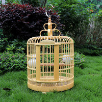 33cm Bird cage bamboo bird cage starling special head thrush cage small small parrot embroidered eye full set WF9281120