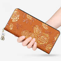 National style leather purse, female multifunctional zipper, hand bag, vegetable tanning cowhide hand grab.