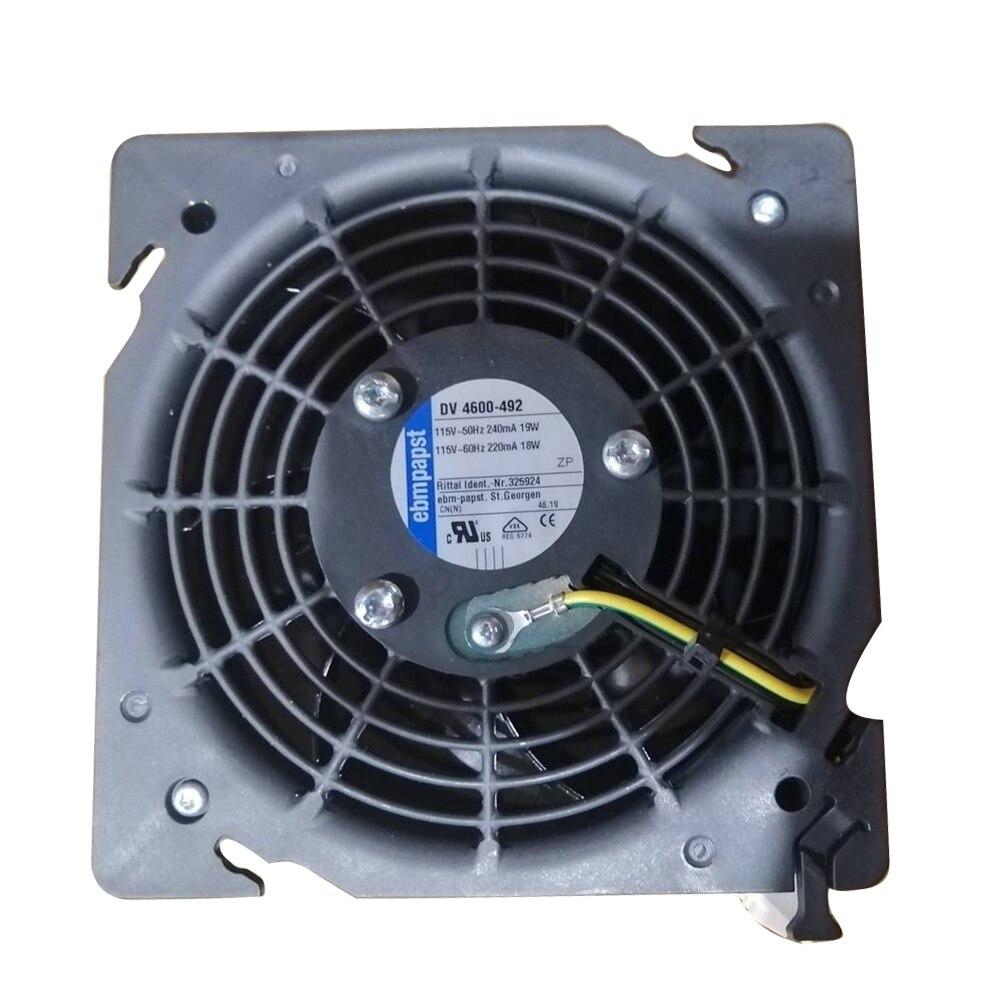 Original Ebmpapst DV4600-492 Axial Fan AC 115V 18/19W Cabinet Cooling Fan NEW