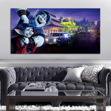1 Piece Onward Cartoon Painting Ian and Barley Frame Picture Canvas Art Wall Hanging Home Decoration Movie Poster Gifts