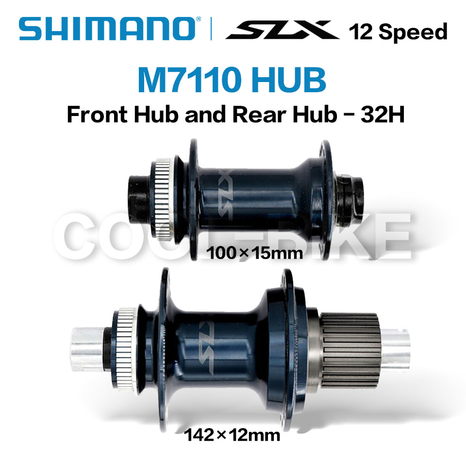 SHIMANO SLX M7110 FH BH M7110 HUB 12s 28H 32H Center Lock 142x12mm 100x15mm  148x12mm 110x15mm MICRO SPLINE Hub E-THRU Axle Bike