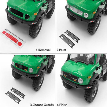 Front Grill Mask Modification for 1/10 Axial SCX10 90075 UMG10 RC Car Parts Upgrade Accessories