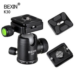 Professional 360° Rotation Double Knob Control Ball Head Tripod Mount Head Adapter With Quick Release Plate For Dslr Camera