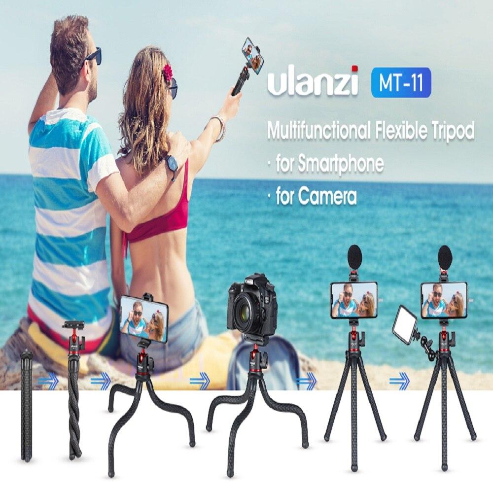 Ulanzi MT-11 flexível polvo tripé para dslr smartphone 2 em 1 tripé estender 1/4 screw screw parafuso para braço mágico led luz de vídeo