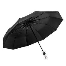 Windproof Double Automatic Folding Umbrella for Car Umbrellas Parasol Car Interior Car Emergency Glass Window Breaker