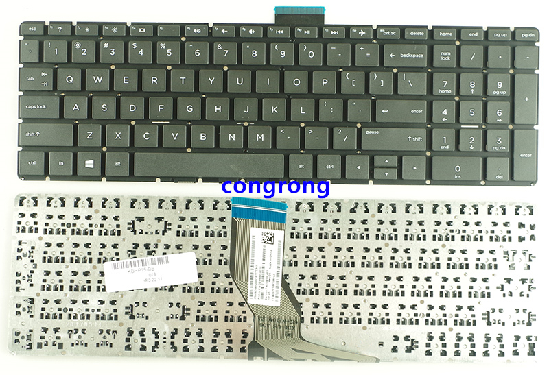 US laptop keyboard for HP 15-BS 250 <font><b>G6</b></font> 255 <font><b>G6</b></font> 256 <font><b>G6</b></font> English keyboard image