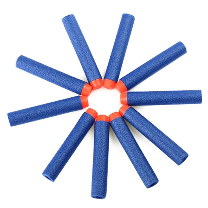 10pcs 7.2cm  Bullets Toy Bullets Hollow Hole Head  Refill Darts Toy Gun Bullets For Blasters Xmas Kid Children Gift