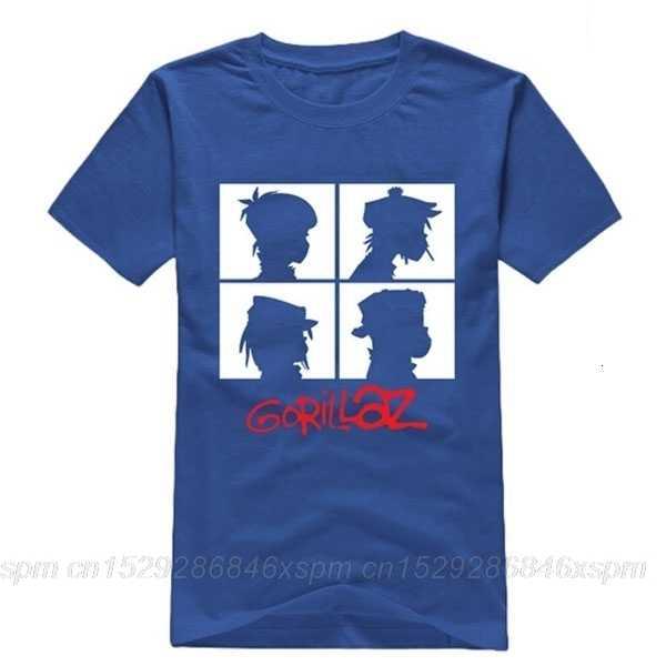 One yona 남성 록 밴드 ChakaKhan Noodle Murdoc Russel 짧은 소매 Gorillaz 남성 T 셔츠 Ringer Fashion Streetwear Clothes