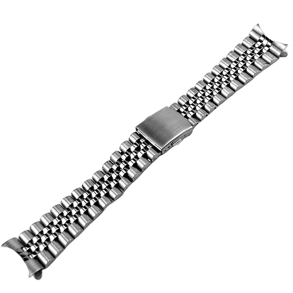 Skx 007 Skx 009 Brush Polish Stainless Steel Jubilee Watch Band Curved End 22mm