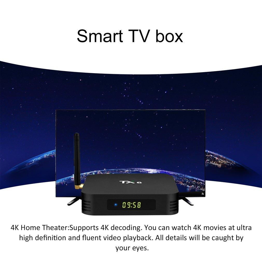 TX6 TV BOX H6 2G/16G na androida 9.0 bezprzewodowy 4K Quad Core WiFi w domu Audio media 4G/32G 4G/64G WIFI Box