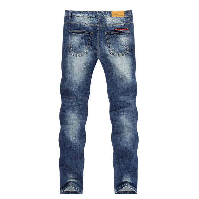 Fashion Ripped Jeans Men Stretch Blue Streetwear Distressed Hip hop Mens jeans Regular Fit Male Long Trousers Pants Big size 40 12