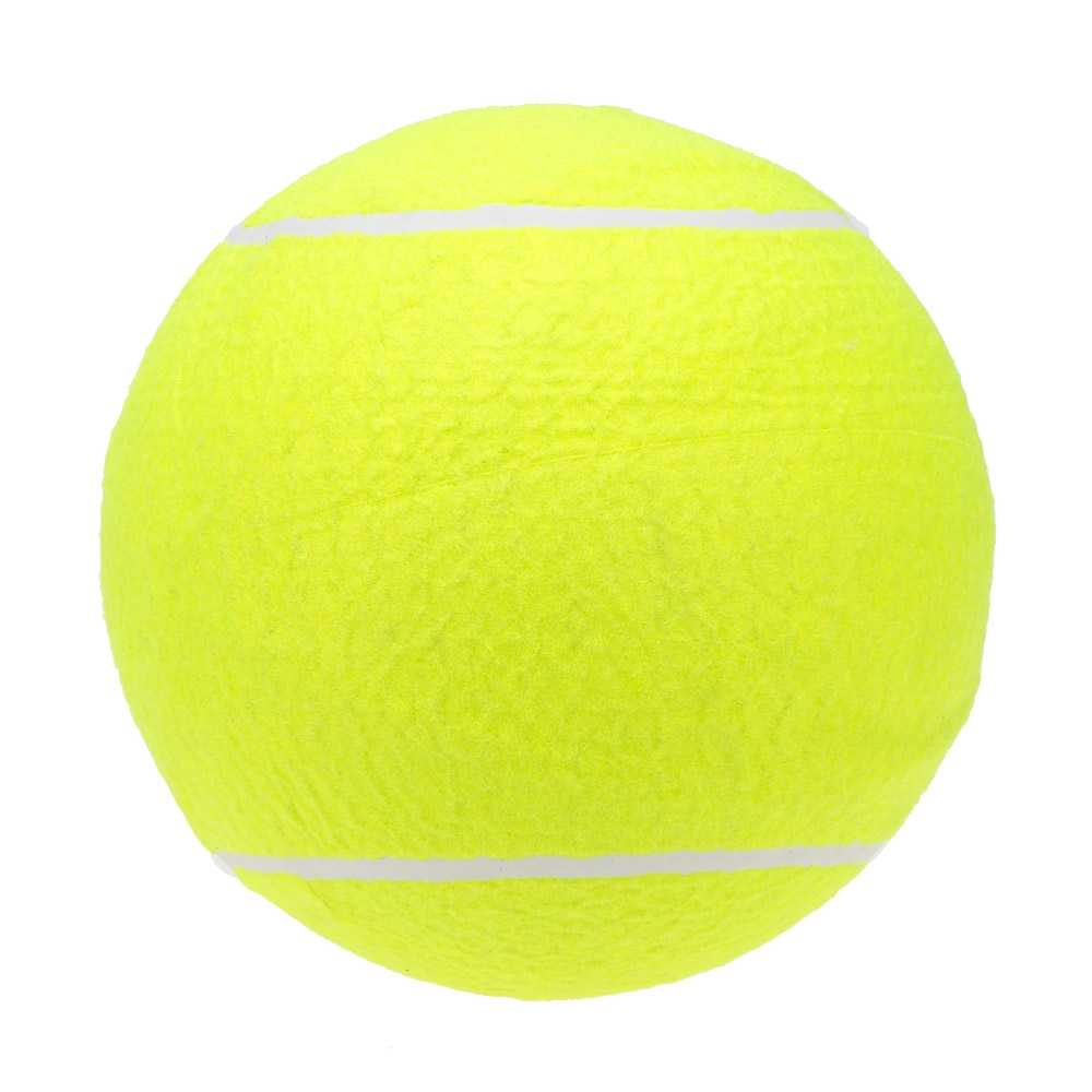 9.5in Giant Tennis Ball For Pet Chew Toy Big Inflatable Tennis Ball Jumbo Ball Supplies Outdoor Cricket