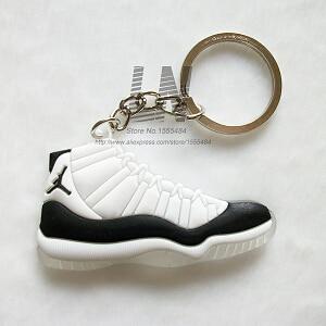 Image 5 - Car Key Chain  Mini Silicone Jordan 11 Keychain Bag Charm Woman Men Kids Key Ring Gifts Sneaker Key Accessories Shoes