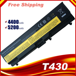 6Cell 5200mAh 10.8V 42T4757 42T4235 Laptop Battery For Lenovo ThinkPad E40 E50 L430 L530 W530 T430 T530 45N1001 42T4796