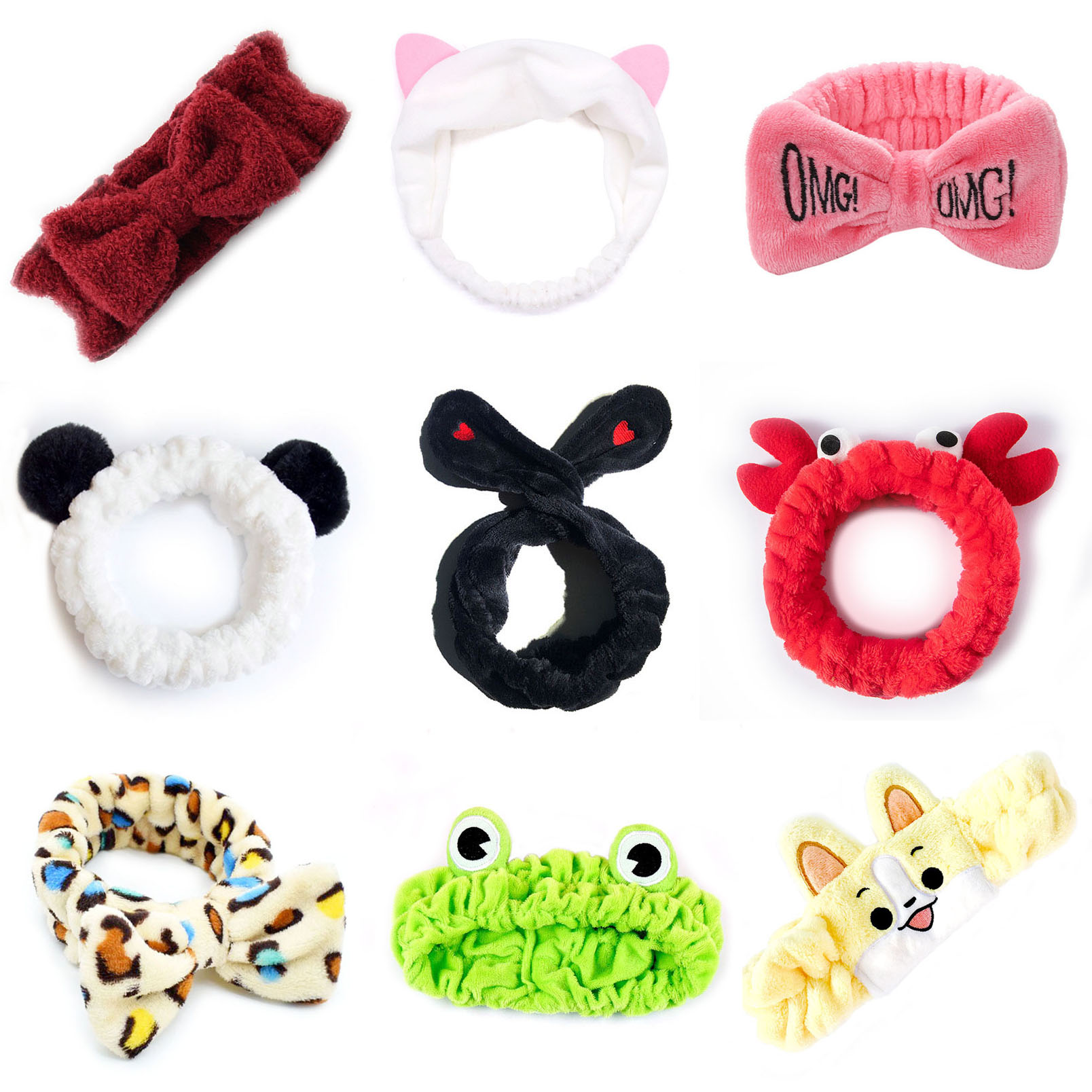 Headwear For Women New Stretch Hair Band Wash Makeup Headband Children Kids Hair Band Bow OMG Bunny Girl Cat Girl