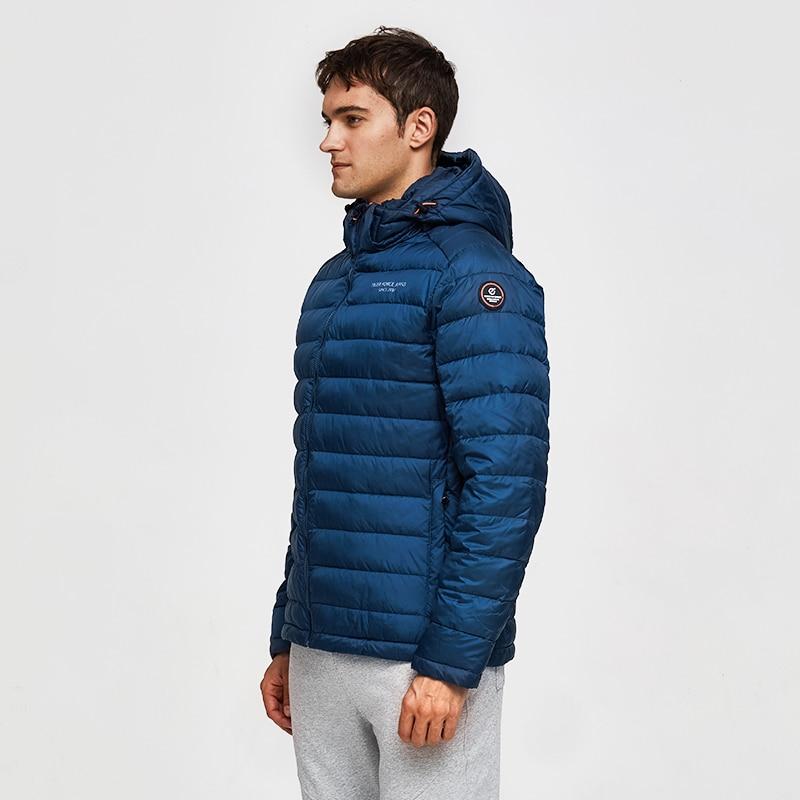 TIGER FORCE โพลีเอสเตอร์ 100% ฤดูใบไม้ผลิเสื้อผู้ชายผู้ชายหนาเสื้อแจ็คเก็ตชายเสื้อโค้ท Hooded Outerwear ผู้ชาย Parka-ใน เสื้อกันลม จาก เสื้อผ้าผู้ชาย บน   2
