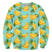 Ifpd европейский размер принт бананов 3d толстовки осень новая