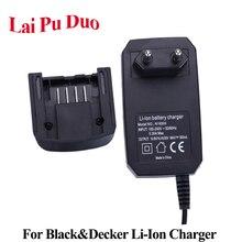 Li ion Battery Charger Per Black & Decker Trapano Elettrico 14.4V 18V 20V Serise Cacciavite Strumento Batteria Accessorio