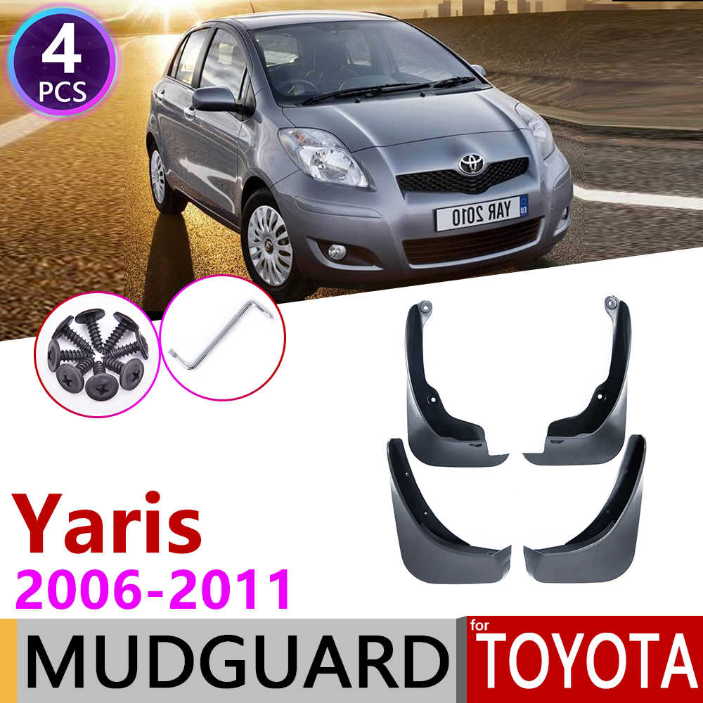 Para Toyota Yaris Vitz 2006 ~ 2011 XP90 Mudflap guardabarros de guardabarros guardia Splash solapa accesorios del coche 2007, 2008 2009, 2010