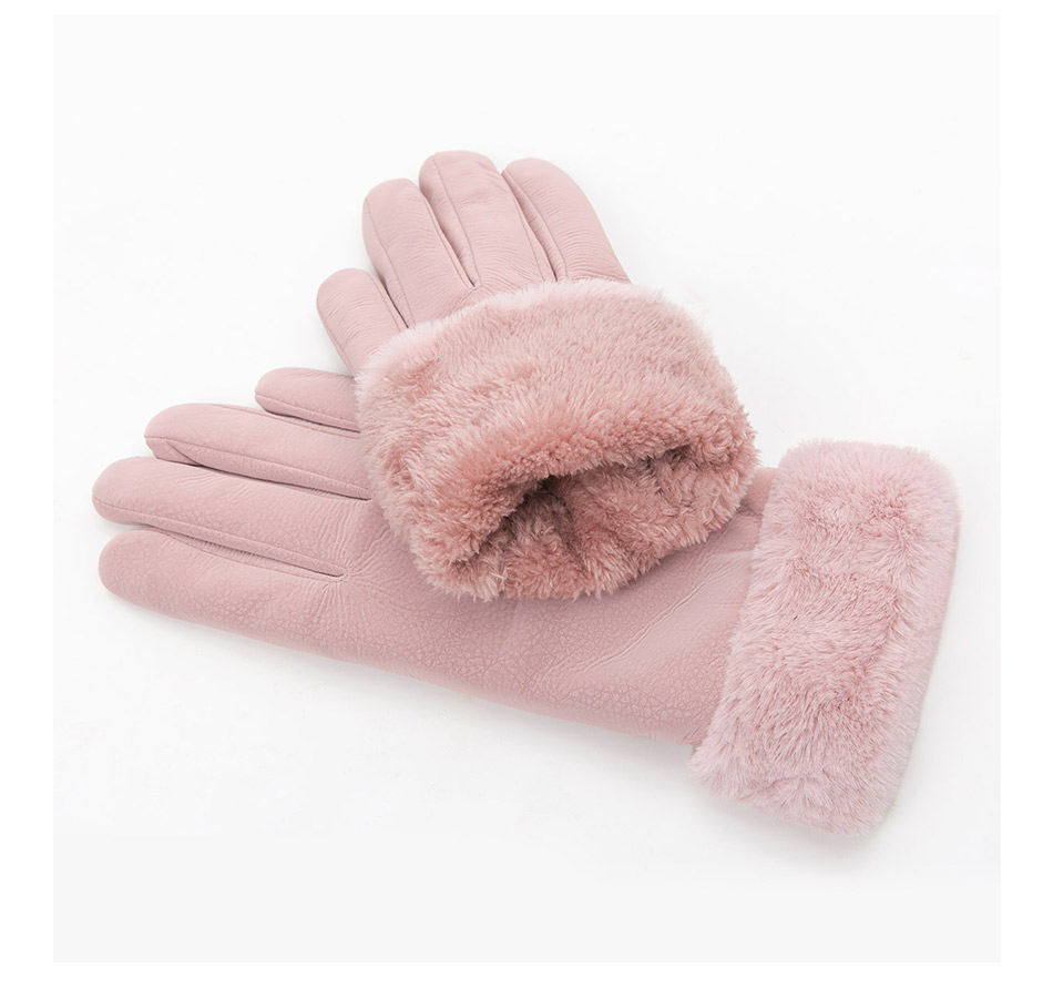 New Arrival Winter Gloves Women Touch Screen Waterproof Outdoor Leather Thicken Warm Gloves