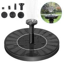 1.4W pompa do fontanny solarnej okrągłe oczko wodne pływająca fontanna pompa wodna do dekoracji basenu stawowego