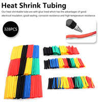328Pcs Insulation Sleeving Thermal Casing Car Electrical Cable Tube Kits Heat Shrink Tube Tubing Wrap Sleeve Assorted