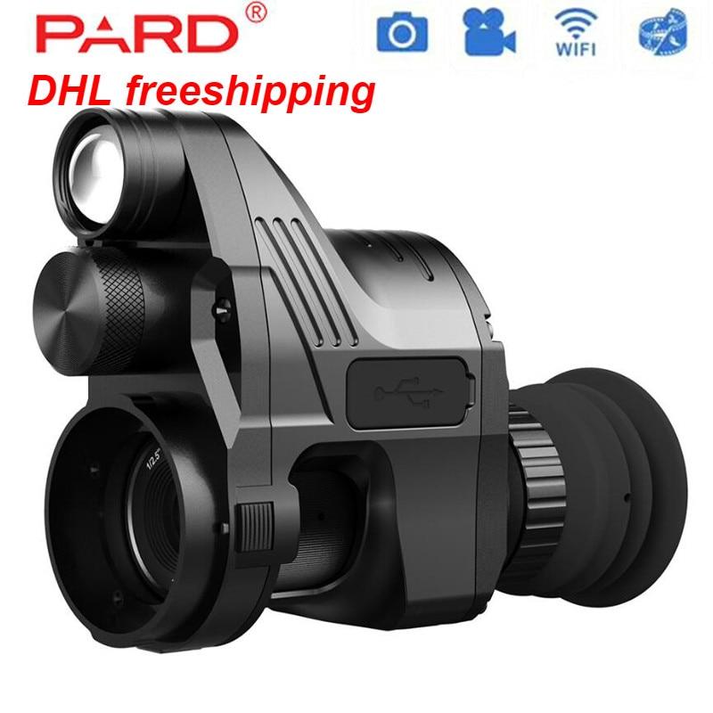 PARD NV007 5W IR Infrared Digital Night Vision Telescope Wifi APP 1080P HD NV Riflescope digital hunting Optics Sight Hot Sales in Hunting Cameras from Sports Entertainment