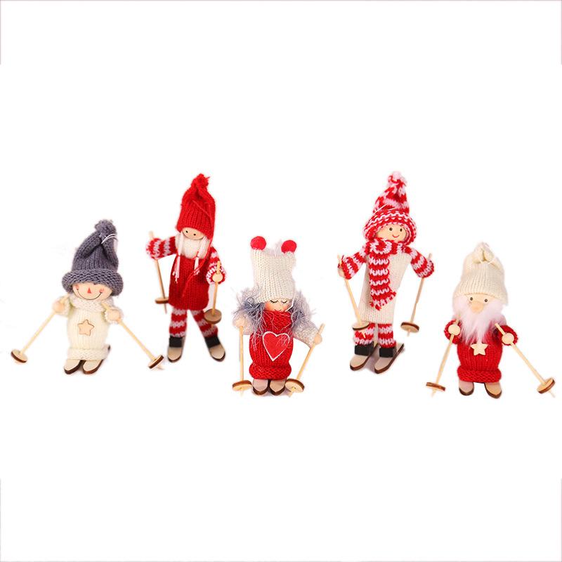 New Year 2020 Merry Christmas Ornaments Christmas Angel Elf White Christmas Decorations for Tree Toy Xmas Decor Swiateczne Natal 21
