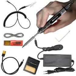 TS100 мини OLED 65 Вт цифровая электрическая портативная умная паяльная станция комплект с TS оригинальный сменный железный наконечник DC источни...