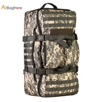 60L Military Tactics Backpack Large Bag Multifunction Capacity Camo Camping Hunting Travel Rucksack Waterproof Nylon Duffel Bag