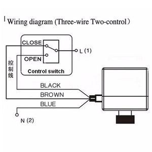 Image 2 - AC220V DN15 DN20 DN25 pirinç elektrikli vana 2 way motorlu bilyalı vana üç teller elektrikli aktüatör ile manuel anahtar