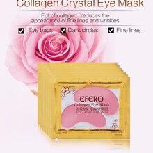 1 пара коллагеновая кристальная маска для глаз увлажняющие патчи для глаз мешки для глаз морщинки темные круги подушечки для глаз против старения уход за кожей TSLM1