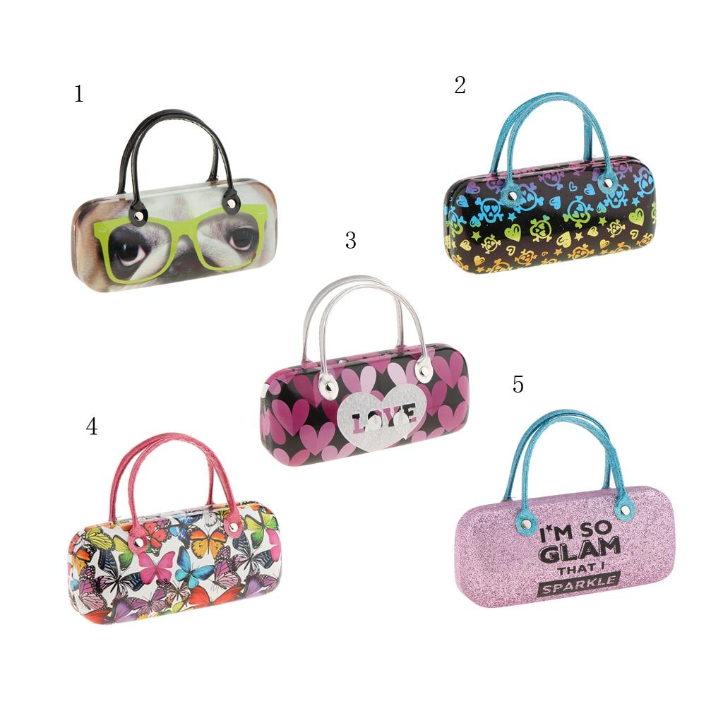 Portable Cute Handbag Hard Eyeglasses Storage Case Eyewear Spectacles Sunglasses Eye Glasses Box Holder for Unisex Adult Kids