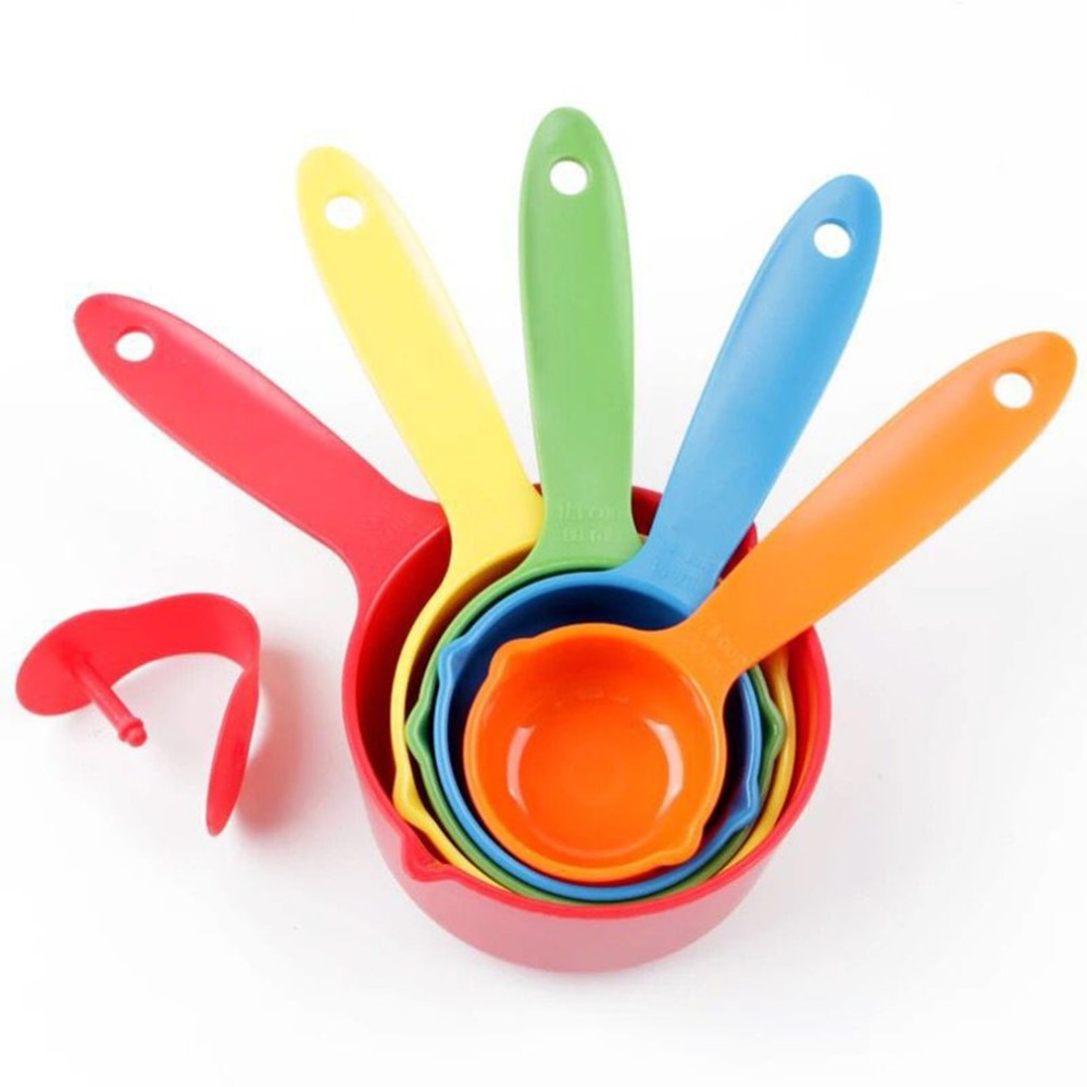 Color Baking Measuring Spoon With Scale Set 5 Piece Set