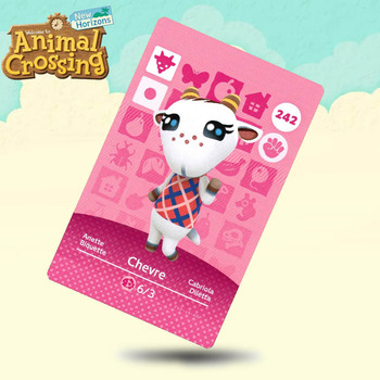 242 Chevre Animal Crossing Card Amiibo Cards Work For Switch NS 3DS Games
