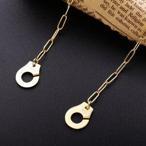 Image 5 - Moonmory S925スターリングシルバー手錠ペンダント & ネックレス女性のためのシルバーチェーン手錠ネックレスホワイトmenottes卸売