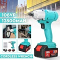 108VF 12800mAh Powerful Cordless Electric Impact Wrench G un 1/2'' Driver 320Nm with Rechargeable Li ion Battery|Electric Wrenches| |  -