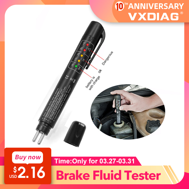 Universal Car Accessories Brake Fluid Tester Diagnostic Tools 5 Leds Brake Fluid Testing Tool Ar Automo Accurate Oil Quality
