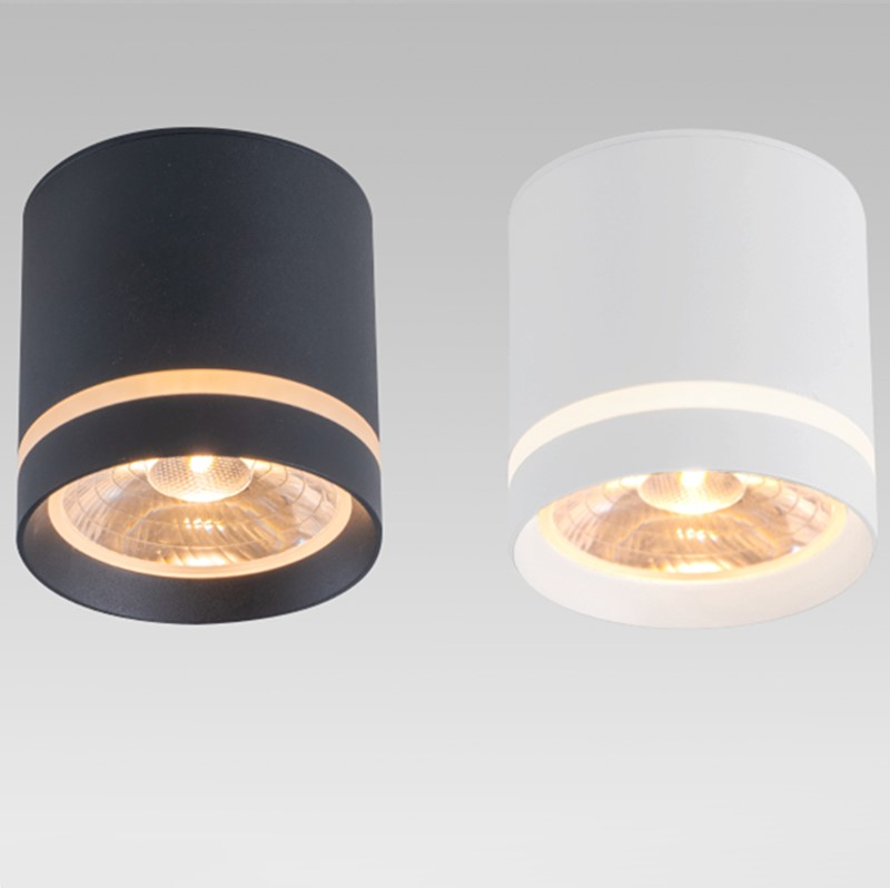 Dimmable Cylinder LED Downlights 7W 10W 12W  COB LED Ceiling Spot Lights AC85~265V LED Background Lamps Indoor Lighting